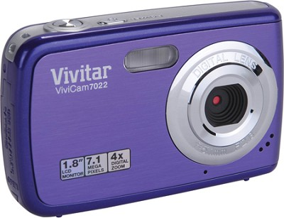 ViviCam 7022 7.1 MP Digital Camera (Grape)