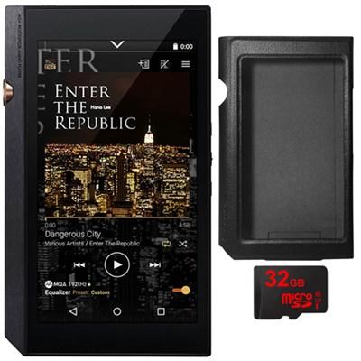 XDP-300R Portable Digital Audio Player w/ WiFi & Bluetooth, Black + 32GB Card