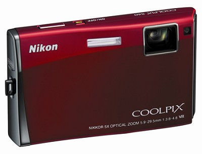 Coolpix S60 Digital Camera (Crimson Red)