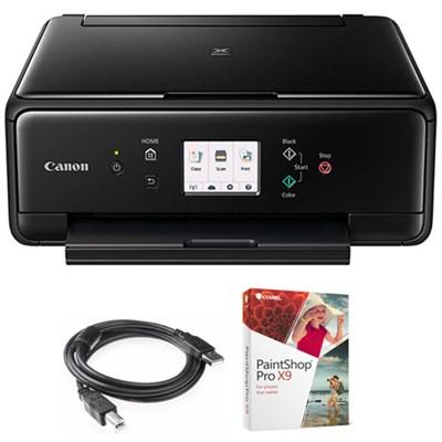 PIXMA TS6020 Compact All-in-One Auto Duplex Printer w/ Paint Shop Bundle