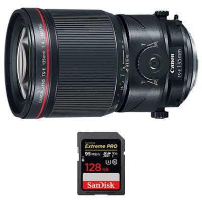 135mm f/4L Fixed Prime MACRO DSLR Camera Lens w/ Sandisk 128GB Memory Card