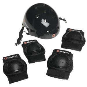 Razor Skater Multi-Sport Helmet and Pad Combo Set
