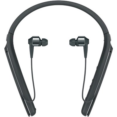 WI1000X/B Noise Cancelling Wireless Behind-Neck In Ear Headphones, Black