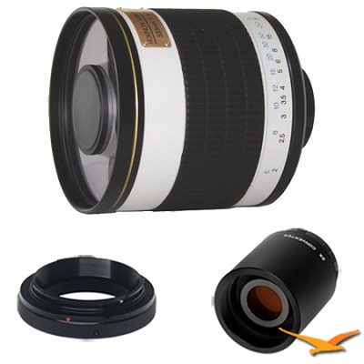 ED500M - 500mm f/6.3 ED Mirror Lens for Olympus/Panasonic and 2x Multiplier