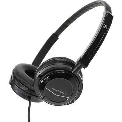 HT-21 Portable Travel Headphone with Swivel Cups and Foldable Headband - Black