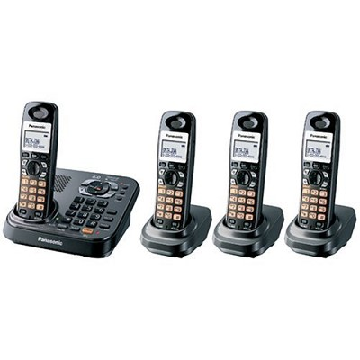 KX-TG9344PK DECT 6.0 Expandable Digital Cordless Phone with 4 Handsets