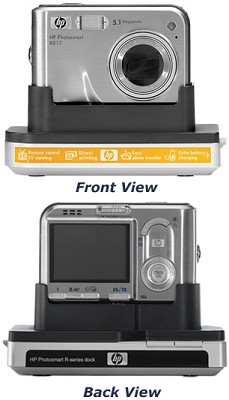 Photosmart R817 5-MP Digital Camera with Camera Dock + spare camera battery