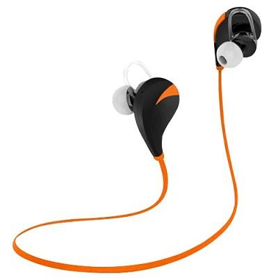 Noise Reduction Wireless Bluetooth Lightweight Sport Headphones w/ Mic - Orange