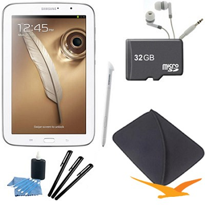 8` Galaxy Note 8.0 16GB Exynos 1.6 GHz Quad-Core Processor White Tablet Kit