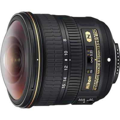 AF-S FISHEYE FX Full Frame NIKKOR 8-15mm f/3.5-4.5E ED F/4.5-29 Fixed Zoom Lens