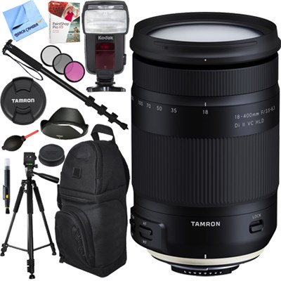 18-400mm f/3.5-6.3 Di II VC HLD Zoom Lens for Nikon Mount Accessories Bundle