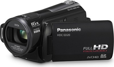 HDC-SD20K Hi-Def SD Camcorder with 16X Zoom (Black)