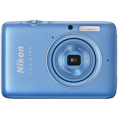 COOLPIX S02 13.2 MP 1080p HD Video Digital Camera - Blue (Refurbished)