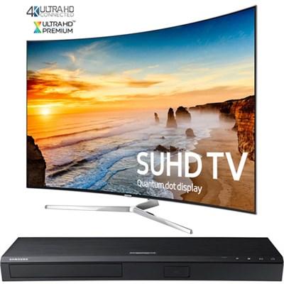 Curved 65` KS9500 2160p Smart SUHD TV + Samsung UBDK8500 4K UHD Blu-Ray Player