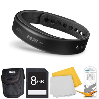 vivosmart Bluetooth Fitness Band Activity Tracker - Large - Black Deluxe Bundle