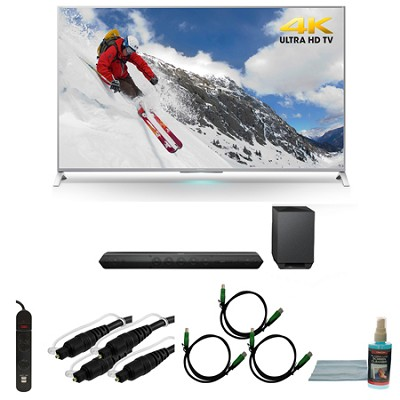 XBR-65X800B 65-inch 4K Ultra HD Smart LED TV Motionflow HT-ST7 Sound Bar Bundle