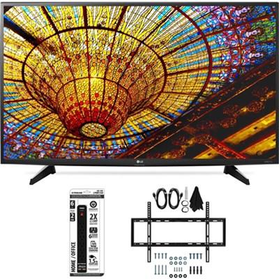49UH6100 49-Inch UH6100 4K UHD Smart TV with webOS 3.0 Flat Wall Mount Bundle