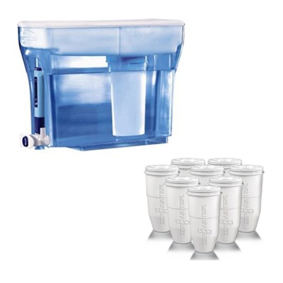 23Cup Filtration Pitcher with Filter & Testing Meter w/Replacement Filter 8 Pack