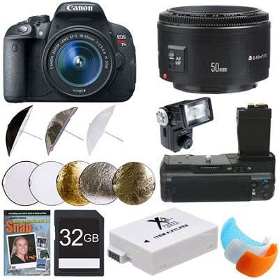 EOS Rebel T5i SLR Digital Camera Portrait Photographer Deluxe Bundle