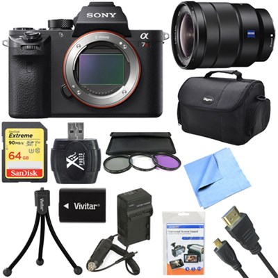 a7R II Full-frame Mirrorless Interchangeable 42.4MP Camera 16-35mm Lens Bundle