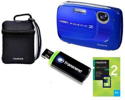 FINEPIX Z37 10MP Blue Digital Camera & 2GB Memory, Reader and Case