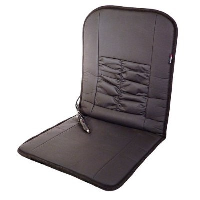 IN2282 Black 12V Faux Leather Deluxe Heated Seat Cushion
