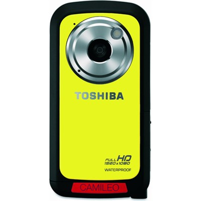 CAMILEO Full HD 1080P Waterproof Camcorder, Yellow - OPEN BOX