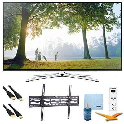 40` Full HD 1080p Smart HDTV 120Hz Plus Tilting Mount & Hook-Up Bundle UN40H6350