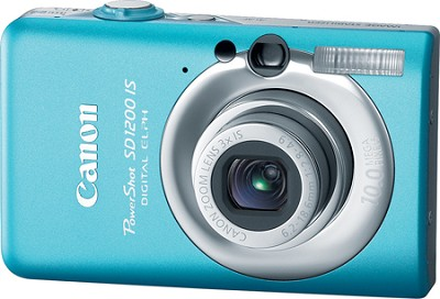 Powershot SD1200 IS 10MP Digital ELPH Camera (Blue) - REFURBISHED