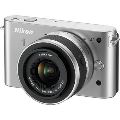1 J1 SLR Silver Digital Camera w/ 10-30mm VR Lens (Refurbished)