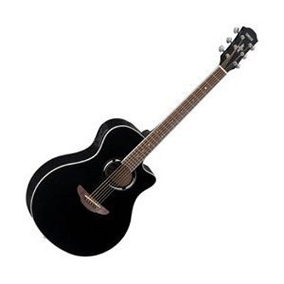 APX500II BL Thinline Cutaway Acoustic-Electric Guitar Black