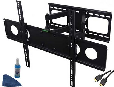 4 Piece Articulating and Tilting Full Motion Wall Mount for 32-62 inch TVs