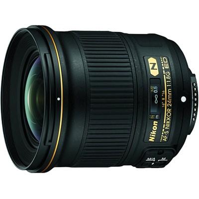 AF-S FX Full Frame NIKKOR 24mm f/1.8G ED Fixed Lens with Auto Focus