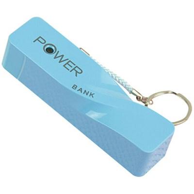 2600mAh Portable Keychain Power Bank - Blue