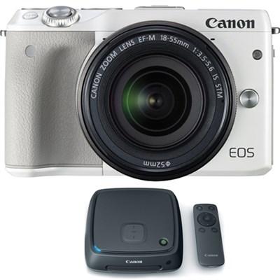 EOS M3 24.2MP Mirrorless Camera w/ EF-M 18-55mm Lens + 1TB CS100 Storage Hub