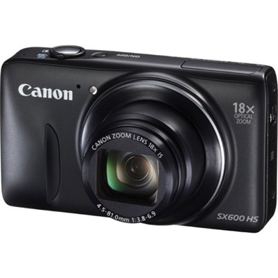 PowerShot SX600 HS 16.1MP 18x Zoom 3-inch LCD - Black - OPEN BOX