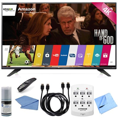 60UF7700 - 60-inch 240Hz 2160p 4K Smart LED UHD TV with WebOS Hook-Up Bundle