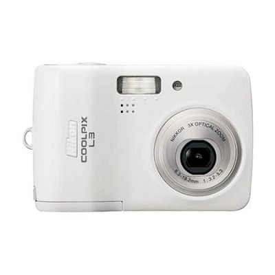 Coolpix L3 Digital Camera, White - Special Edition