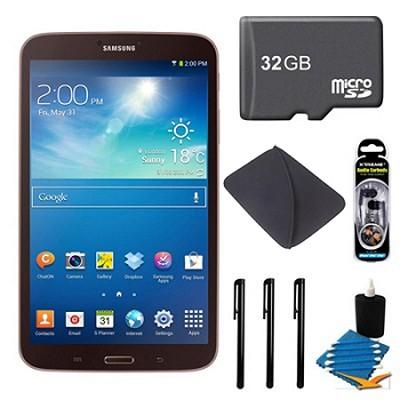 Galaxy Tab 3 (8-Inch, Gold-Brown) + 32GB Micro SDHC and More