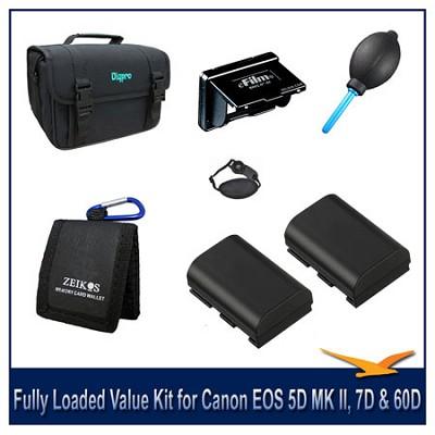 Fully Loaded Value Kit For The Canon EOS 5D MII, 5D MIII,6D,7D & 60D