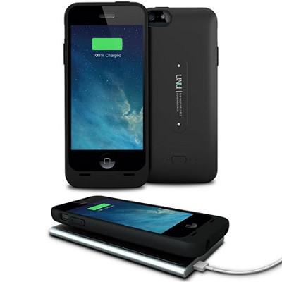 Aero Series iPhone 5s Battery Case/Battery - Wireless Charging Technology, Black