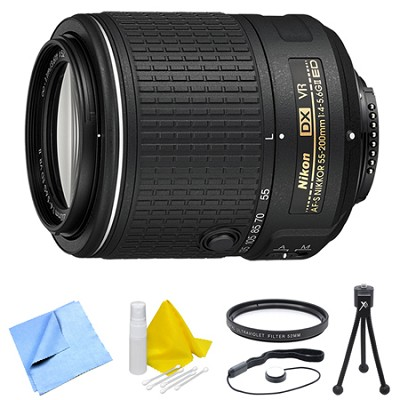 AF-S DX NIKKOR 55-200mm f/4-5.6G ED VR II Lens and Filter Bundle