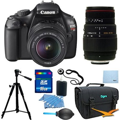EOS Rebel T3 DSLR Camera w/ 18-55mm Lens II & Sigma 70-300mm  Zoom Pro Kit