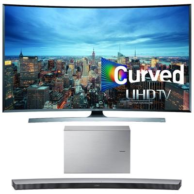 UN55JU7500 - 55-Inch 2160p 3D Curved 4K UHD Smart TV w/ HW-J7501 Soundbar Bundle