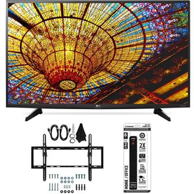 43UH6100 43-Inch 4K UHD Smart TV with webOS 3.0 Flat + Tilt Wall Mount Bundle