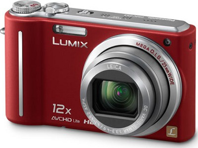 DMC-ZS3R LUMIX 10.1 MP Compact D.Camera with 12x Super Zoom (Red)**REFURBISHED**