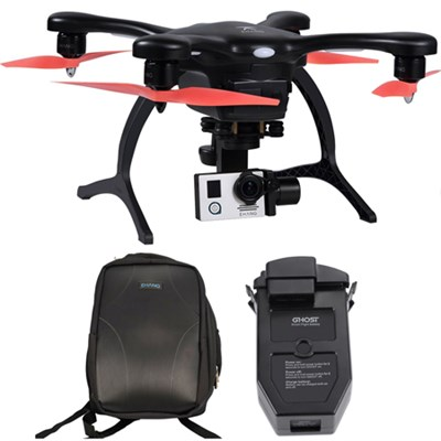 GhostDrone 2.0 Aerial Drone - Black/Orange 1 Year Crash Coverage w/Pro Bundle