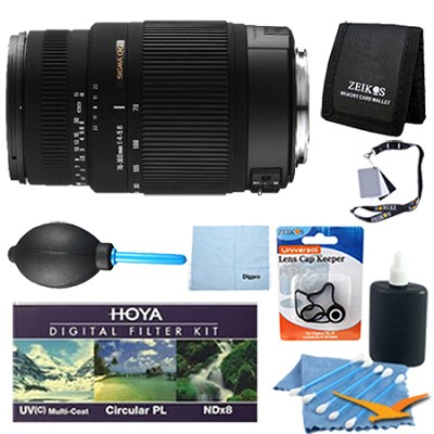 70-300mm F/4-5.6 DG OS SLD Telephoto Lens for Canon EOS DSLRs - Pro Lens Kit