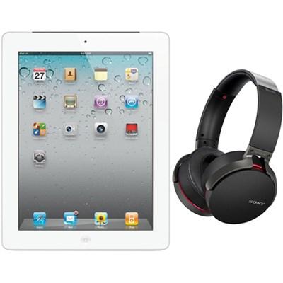 iPad 2 16GB White 2nd Gen Refurbished with New Wireless Headphones Black