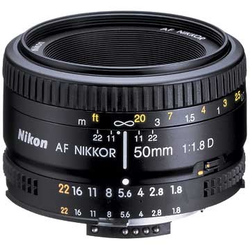 50mm F/1.8 D AF FS-52 Lens - FACTORY REFURBISHED